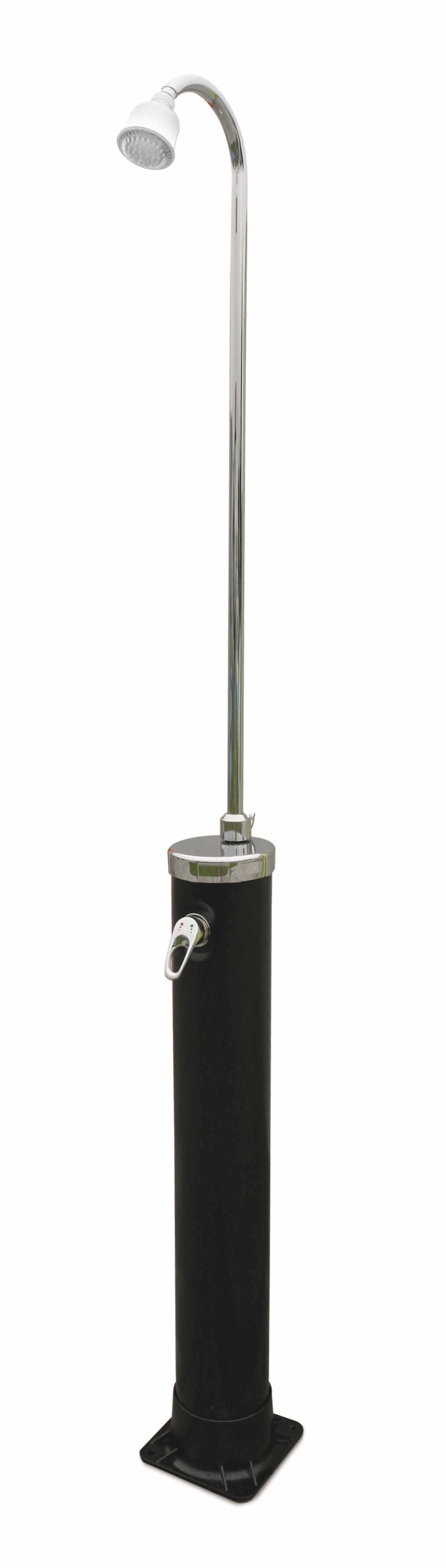 Nein Speedshower Alu-Solardusche mit LED Duschkopf