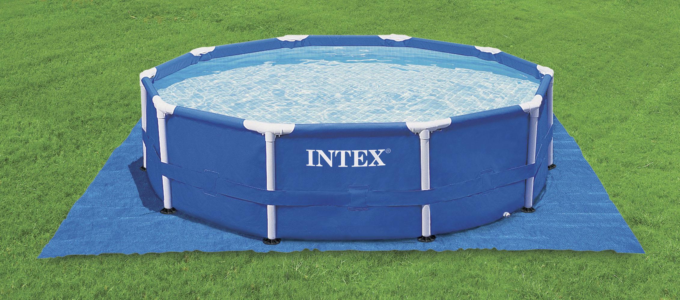 intex 58932 bodenschutz f r pools bis 488 x 488 cm. Black Bedroom Furniture Sets. Home Design Ideas