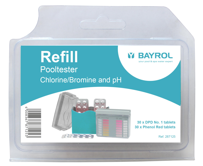 Nachfüllpack mit 2 x 30 Tabletten pH/Cl