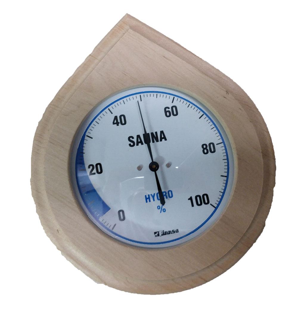 Sauna-Hygrometer, Holz Tropfenform