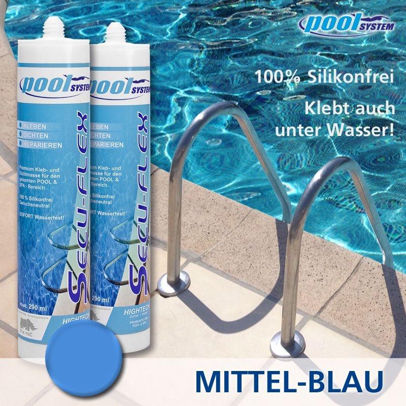 SECU-FLEX Unterwasserkleber mittelblau 290ml von poolSYSTEM