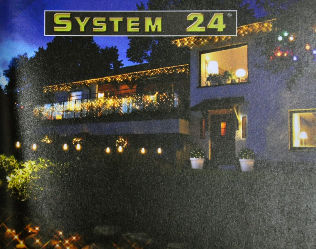 Logo System 24 Systembeleuchtung mit verlinktem Produktkatalog