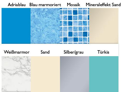 Kopool komplettset typ classic 6 x 3 x 1 45 m kaufen for Poolfolie farbe