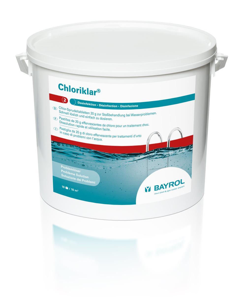 Chloriklar Chlor Sprudeltabletten 10Kg, 20g zur Stoßchlorung