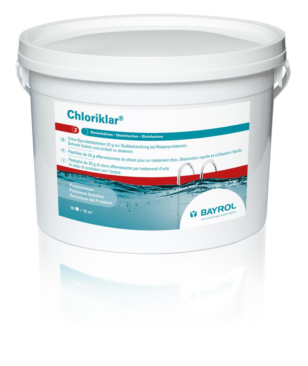 Chloriklar Chlor Sprudeltabletten 3Kg, 20g zur Stoßchlorung