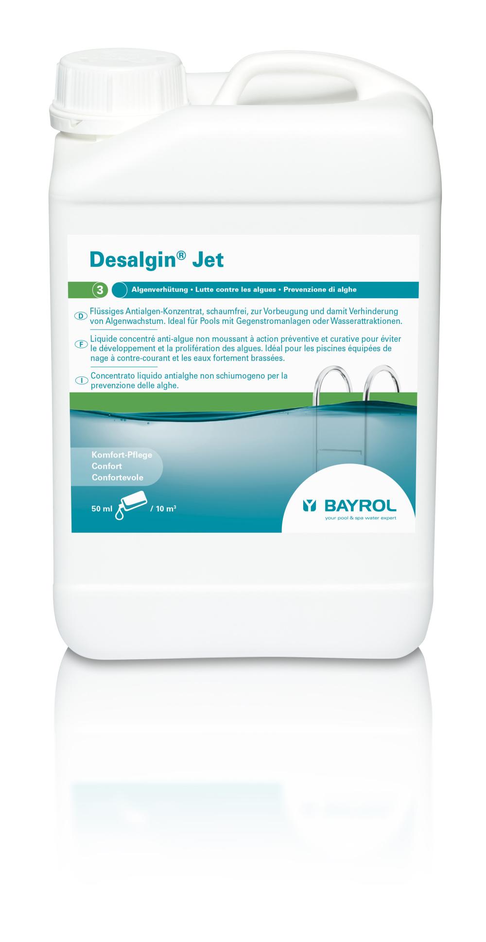 Desalgin Jet 6l flüssiges Algizid, schaumfrei, für Pools mit GSA und Wasserattraktionen