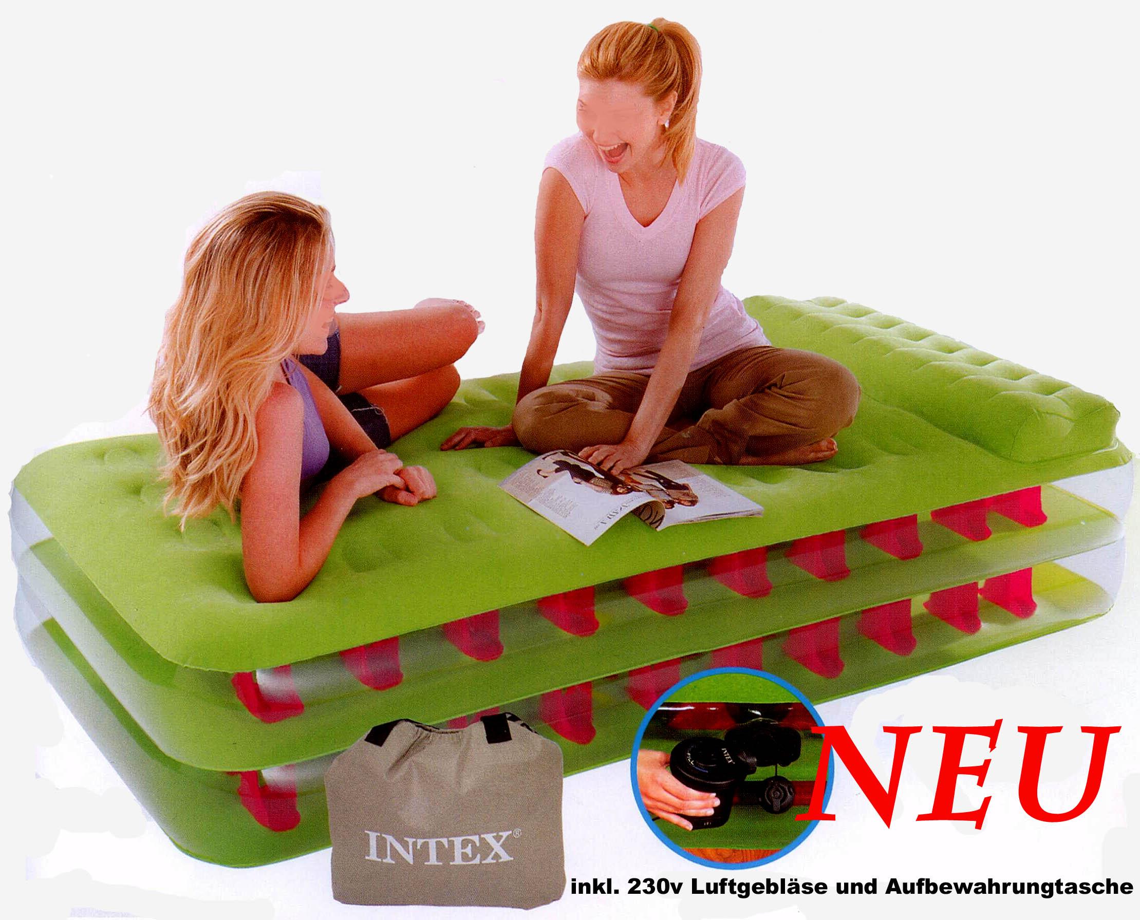 Intex Luftbett 191x99x47 cm Gästebett Bett elektrische Pumpe