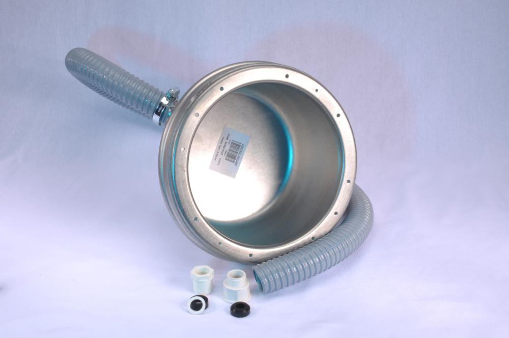 Einbaunische V4A mit Kabelschutzschlauch