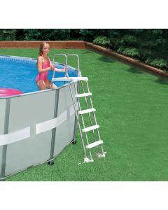 Sicherheitsleiter mit Plattform für Pools von 122 bis 132 cm
