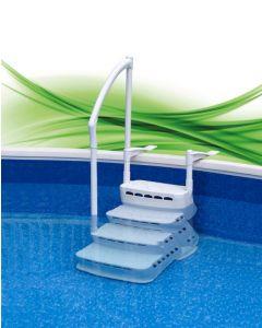 Einbautreppe Komfort mit Handlauf für Pools von 1,2 - 1,35m