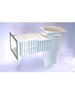 ABS Skimmer für Styroporbecken mit standard Saugöffnung und quadratischem Deckel