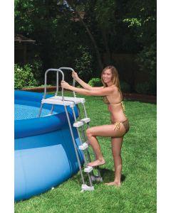 Sicherheitsleiter mit Plattform für Pools von 91 bis 107cm