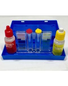 Astralpool Brom/Chlor und pH Test-kit flüssig inkl Schauglas
