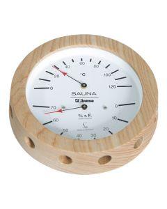 Finnsa Sauna-Hygrotherm 150mm, -Profi-, in Holz gefasst