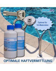 Glattprimer für nicht poröse, glatte Oberflächen, optimal für VA-Materialien von poolSYSTEMS
