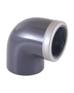 90° Winkel PVC Klebefitting d 25mm Muffe/verstärktes Innengewinde