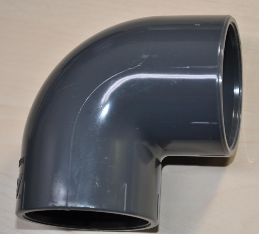 90° Winkel PVC Klebefitting Muffe / Muffe d 63mm