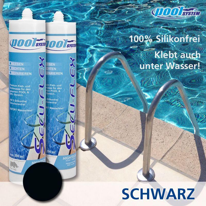 SECU-FLEX Unterwasserkleber schwarz 290ml von poolSYSTEM
