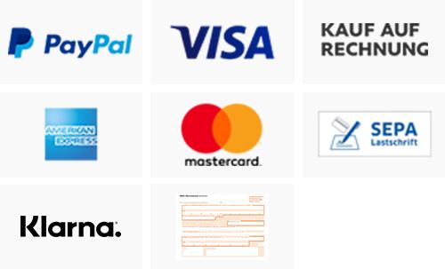 Zahlungs- und Versandarten in Bildern